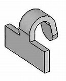 Image result for B00zimlbqw Hook Clip. Size: 130 x 150. Source: voltplastics.com