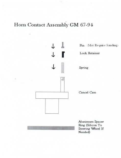 gm steering wheel horn wiring diagram wiring diagrams