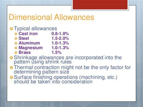 pattern allowances in casting pdf pattern allowances in metal casting
