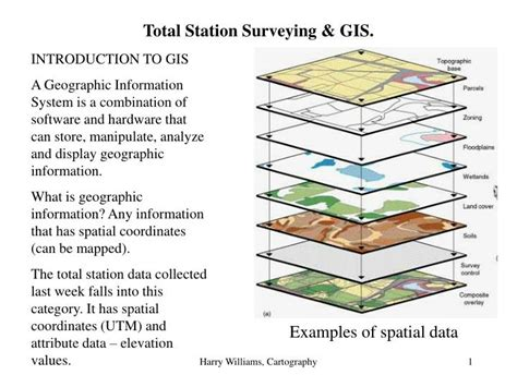 gis powerpoint templates ppt total station surveying gis powerpoint