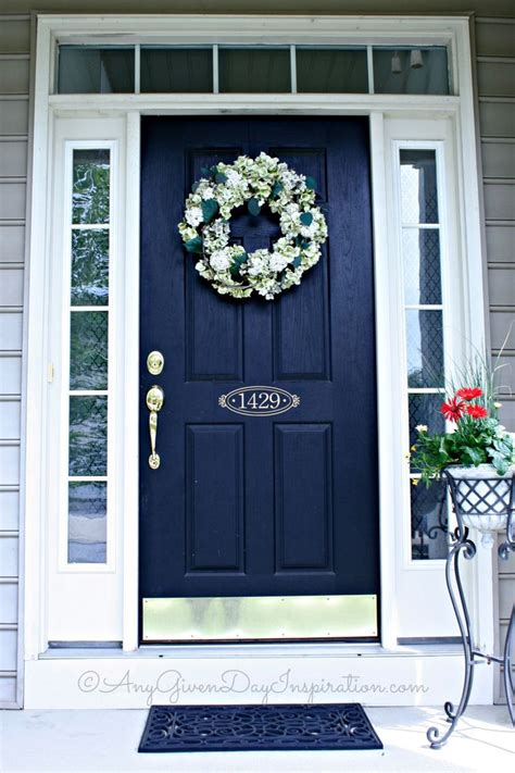 front door color and address on door home decorating