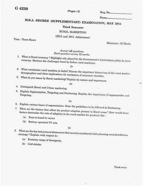 Mg Mba 3rd Semester Question Papers by Marian Library Mg Mba Third Semester Question
