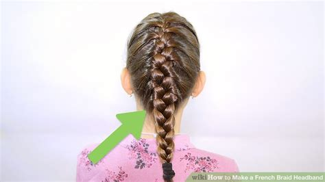wikihow braid how to make a french braid headband 9 steps with pictures