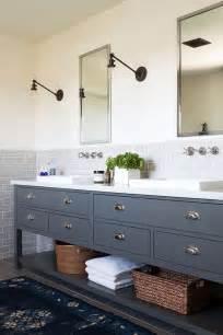 Black Medicine Cabinets For Bathroom by D 233 Co Salle De Bain Gris Et Bleu