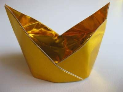 Gold Origami - origami origami gold nugget