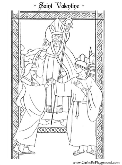 st valentine coloring page february 14th catholic