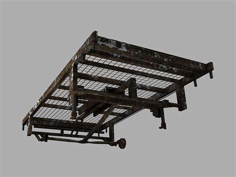 3d Model Old Hospital Bed Frame Vr Ar Low Poly Obj Ma Hospital Bed Frame