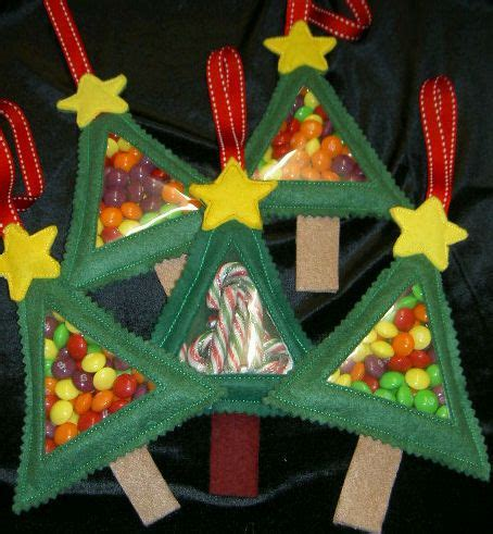 christmas tree candy cuties in the hoop machine embroidery