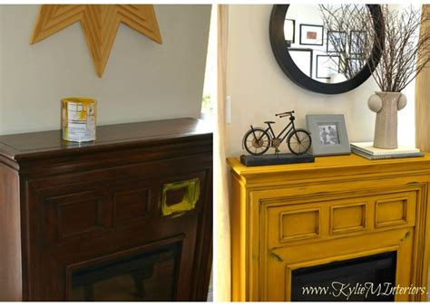 painted furniture ideas gogh chalk paint yellow fireplace benjamin