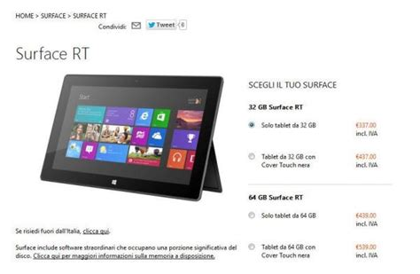 Microsoft Surface Rt Di Indonesia microsoft sconto tablet surface rt di 150 fratellogeek