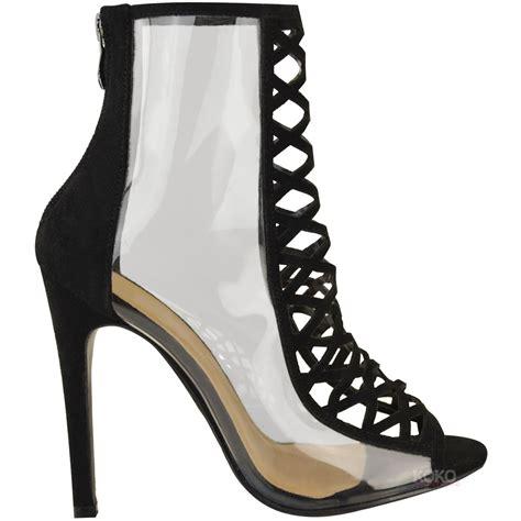 designer shoes uk womens high heel perspex clear sandals