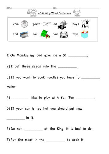 Oi And Oy Worksheets by Oi Digraph Worksheets By Barang Teaching Resources Tes