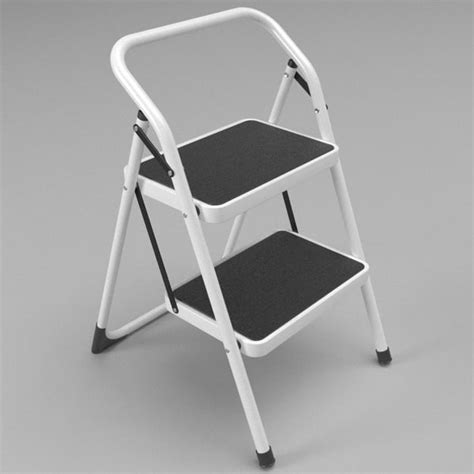 Step Stool Foldable by Step Stool Folded 3d Model