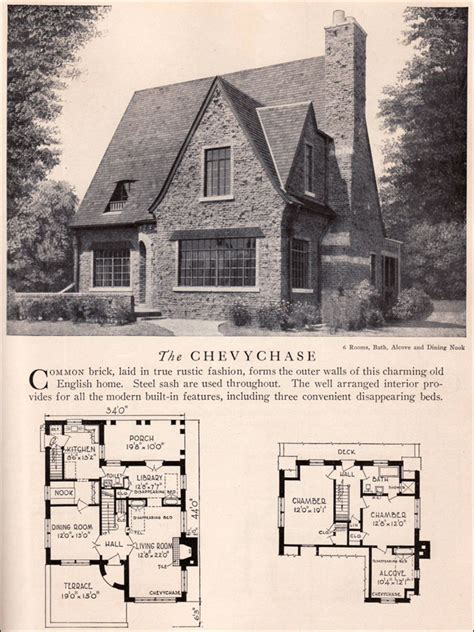 tudor house plans 1920 s chevychase house plan vintage american architecture