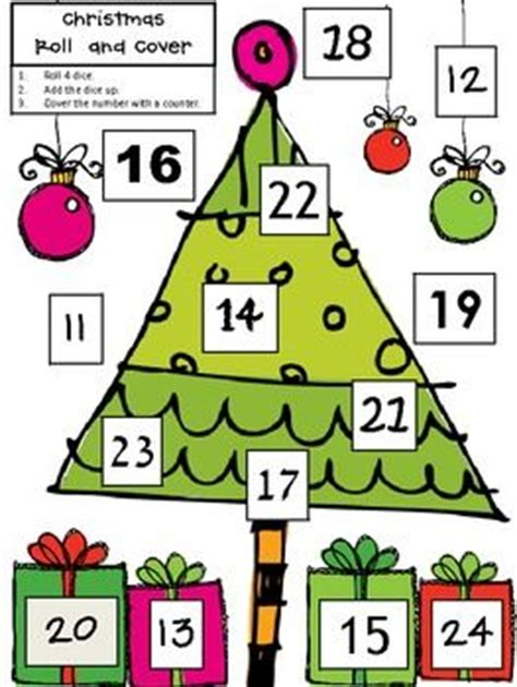 christmas tree stumper math 17 solution 17 best images about roll and color cover trace on math free maths and math