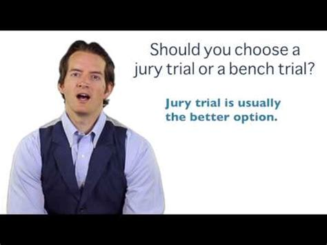difference between jury trial and bench trial juries decide the facts judges decide the law