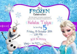 template undangan ulang tahun frozen miyoku design