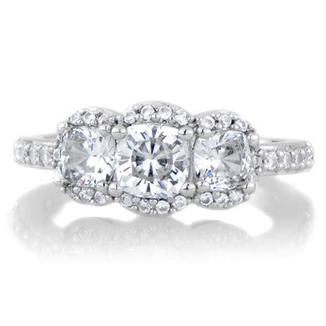 abigail s cushion cut 3 engagement ring