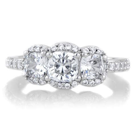 Fake 3 Stone Diamond Rings   Wedding, Promise, Diamond