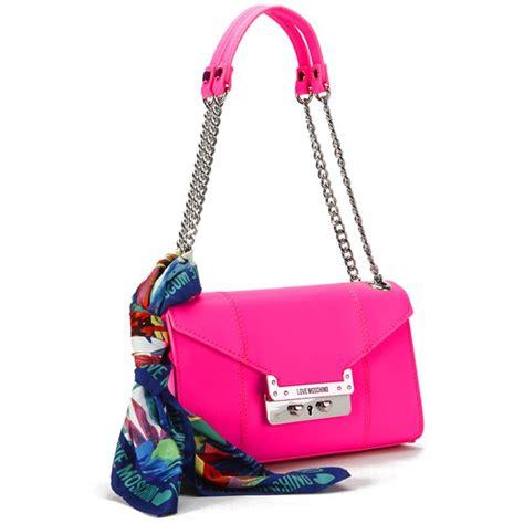 Tas Wanita Brand Mg Saffiano Bag moschino s saffiano shoulder bag pink free uk delivery 163 50