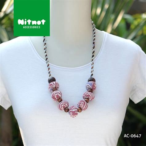 Kalung Ukir Handmade Kombinasi Ganitri kalung batik unik nan cantik handmade limited bahan
