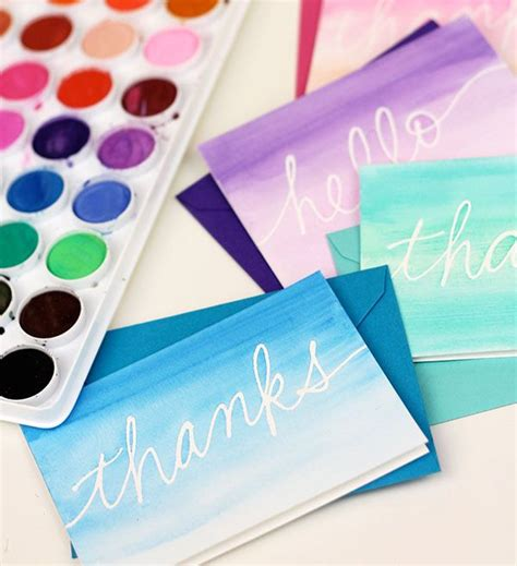 diy stationery easy diy watercolor cards made with a liquid frisket pen it s a masking fluid that