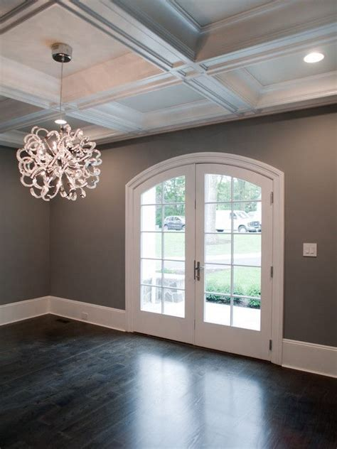 gray walls white trim dark floors gray walls white trim interior decor