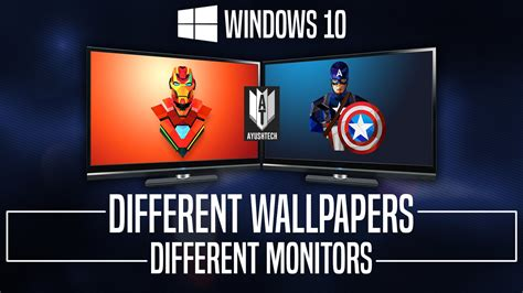 Dual Monitor Separate Wallpaper Windows 10 set different wallpapers on monitors in windows