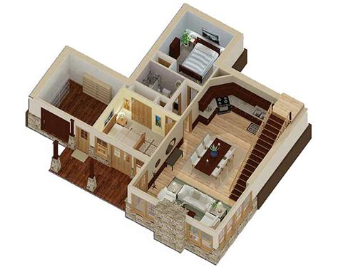 3d house plan image sle sle picture living room unique sunken floor plan 92323mx architectural designs