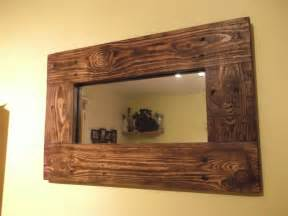 Recycled Wood small mirror made from recycled pallet wood