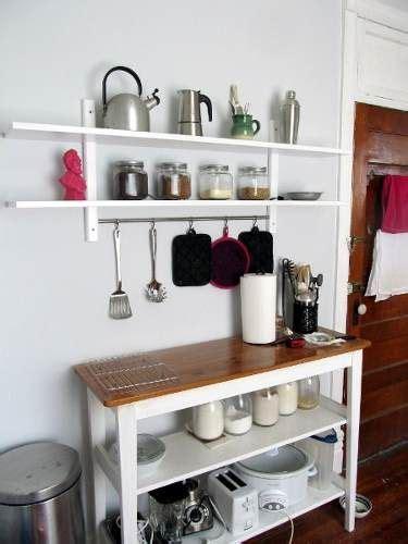 alacena estanteria de cocina  barral mas mesa combo
