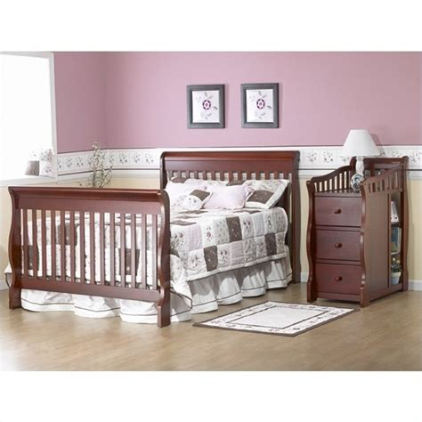 sorelle tuscany more 4 in 1 convertible crib and changer