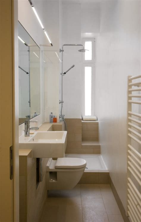 kleine moderne badezimmerideen ideen kleine bader schmales badezimmer dusche beige