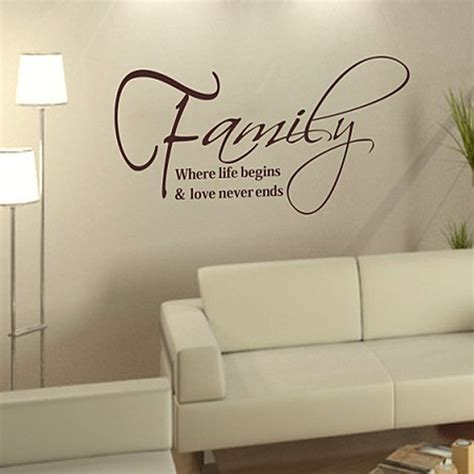 vinyl wall stickers quotes aliexpress buy free shipping family quote vinyl wall decals 30cm 57cm fashion