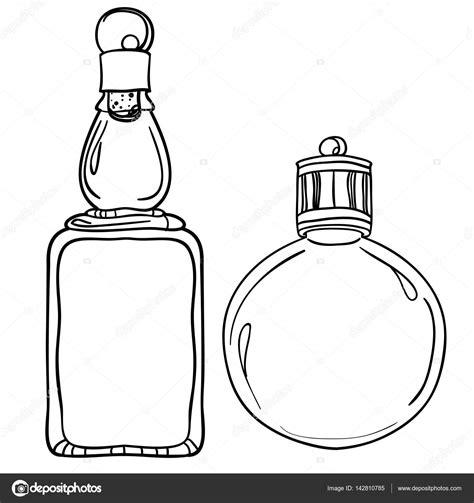 imagenes para pintar en vidrio botellas de vidrio blanco y negro vector de stock