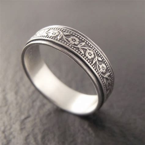 Silver Wedding Bands by Sterling Silver Wedding Band Womens By Downtothewiredesigns