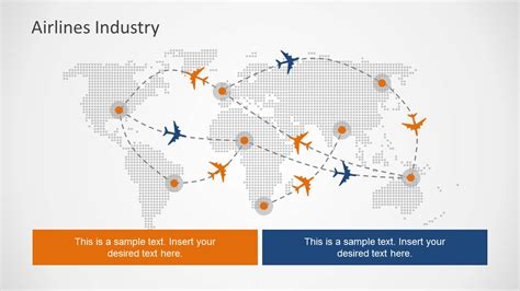 Flight Path Powerpoint Slide Design With World Map Airline Ppt Template Free Downloads