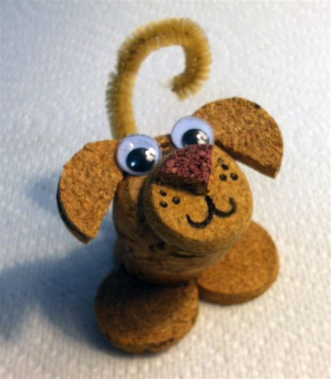how to make a dog cork ornament an animal lover i thoroughly enjoy creating creatures using recycled corks whether as
