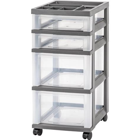 Rubbermaid Rolling Cart With Drawers by Rubbermaid Roughneck 54 Gal Storage Tote In Gray 3 Pack