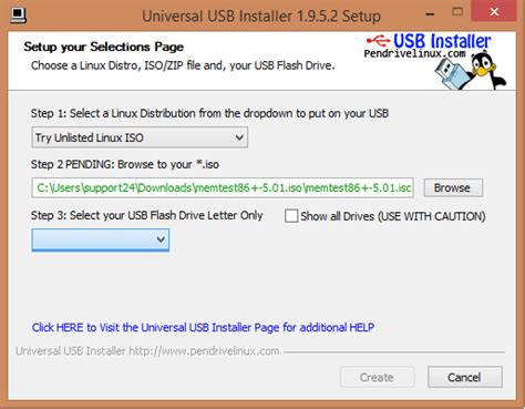 install linux iso usb windows 7 windows 7 how to create a bootable memtest86 on usb