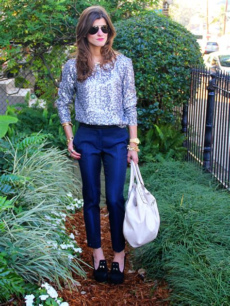 Michael Kors Mk 9044 silver sequins jacquard trousers brightontheday
