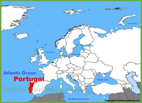 where is portugal located on the world map portugal location on the europe map