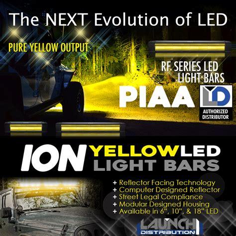 piaa ion yellow light bar piaa ion yellow rf series light bars launch