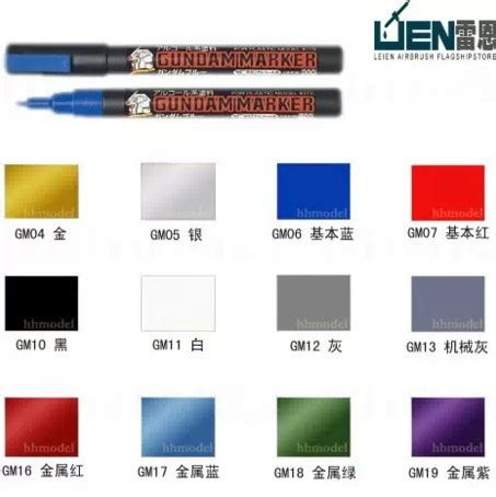 free shipping high quality mr hobby gunze gundam marker pen paint detail color tools bandai