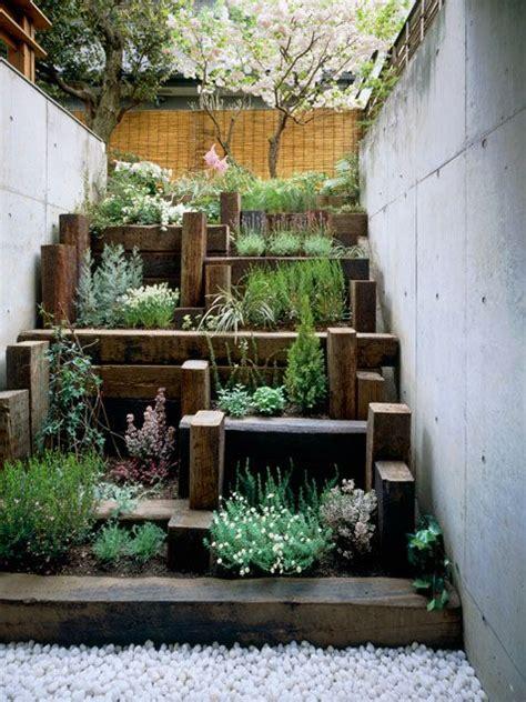 layered wood planters garden gardening garden ideas