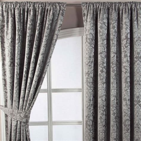 gray velvet drapes velvet jacquard pencil pleat lined ready made curtains