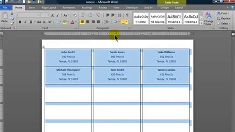 format excel to print labels create mailing labels in word using mail merge from an