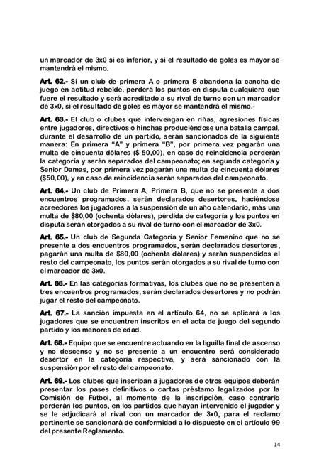 reglamento de futbol ecuador 2016 reglamento de futbol de liga cantonal de pelileo 2016