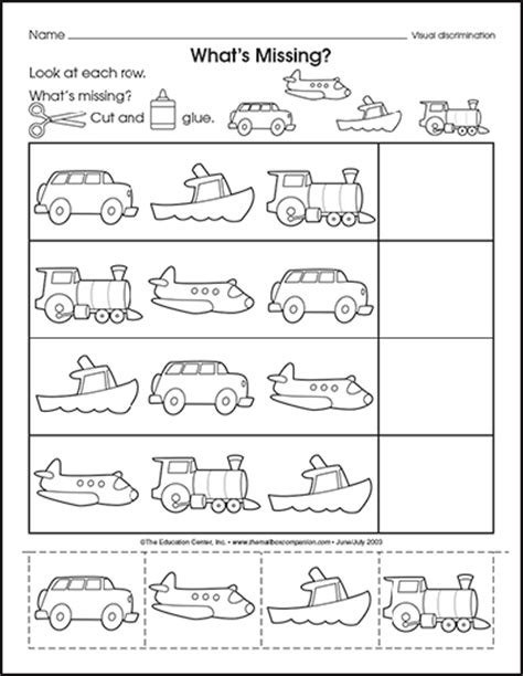 transportation math worksheets will we get there the mailbox