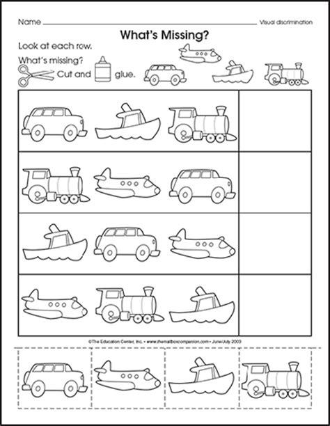 kindergarten activities on transportation transportation theme preschool activities worksheets